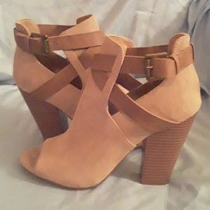 Just fab open toe boots.